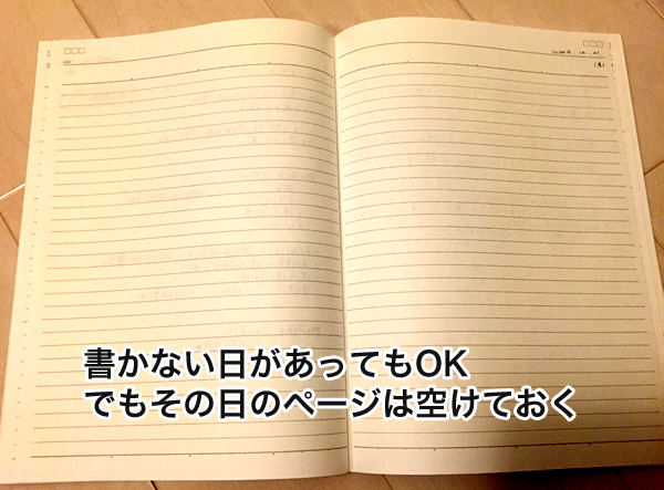 日記を書くコツ